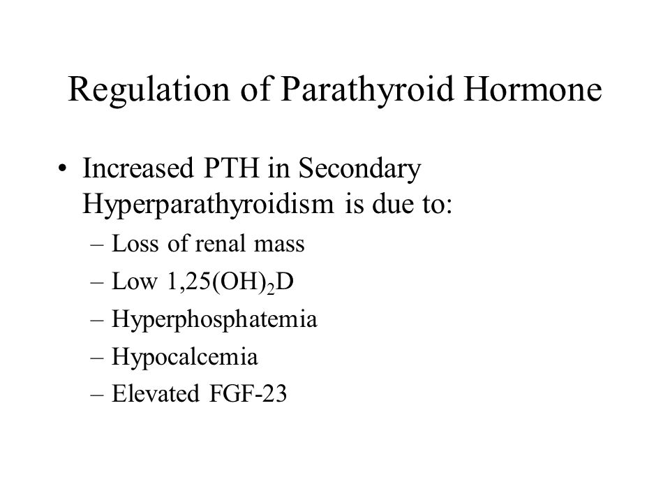 Regulation of Parathyroid Hormone