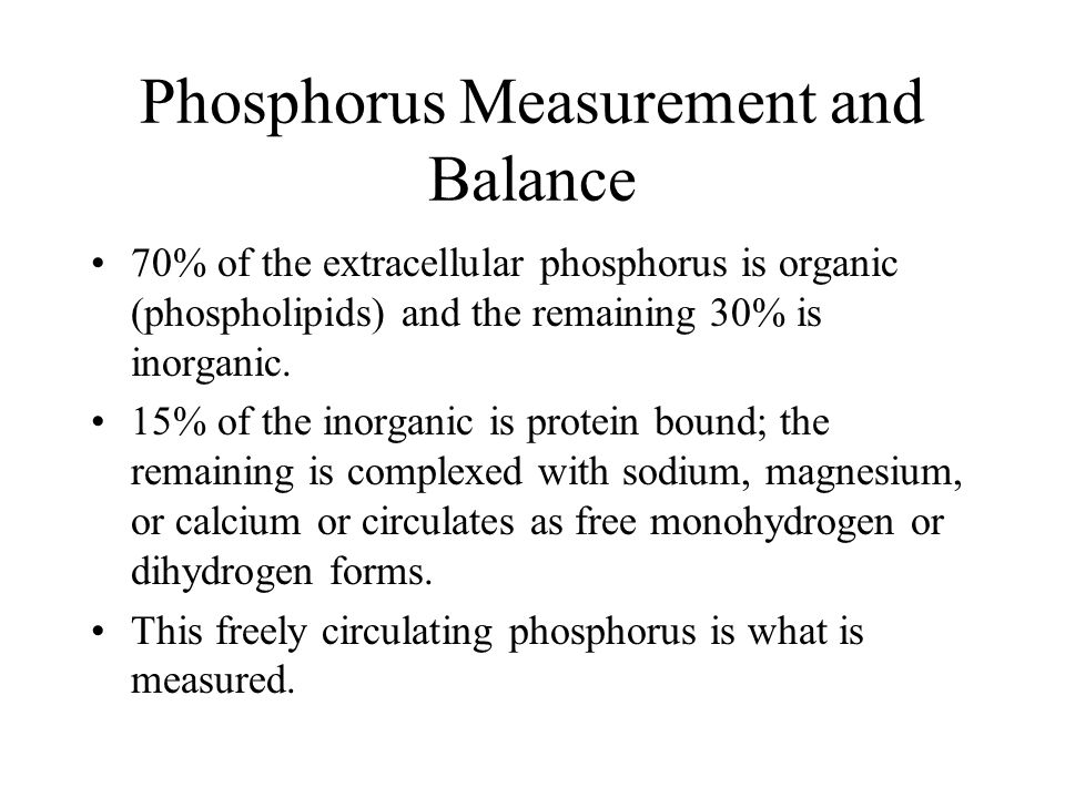 Phosphorus Measurement and Balance