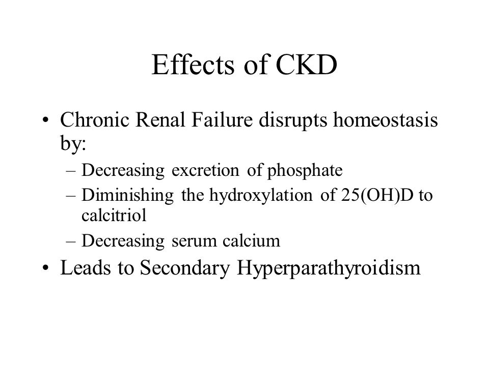 Effects of CKD Chronic Renal Failure disrupts homeostasis by: