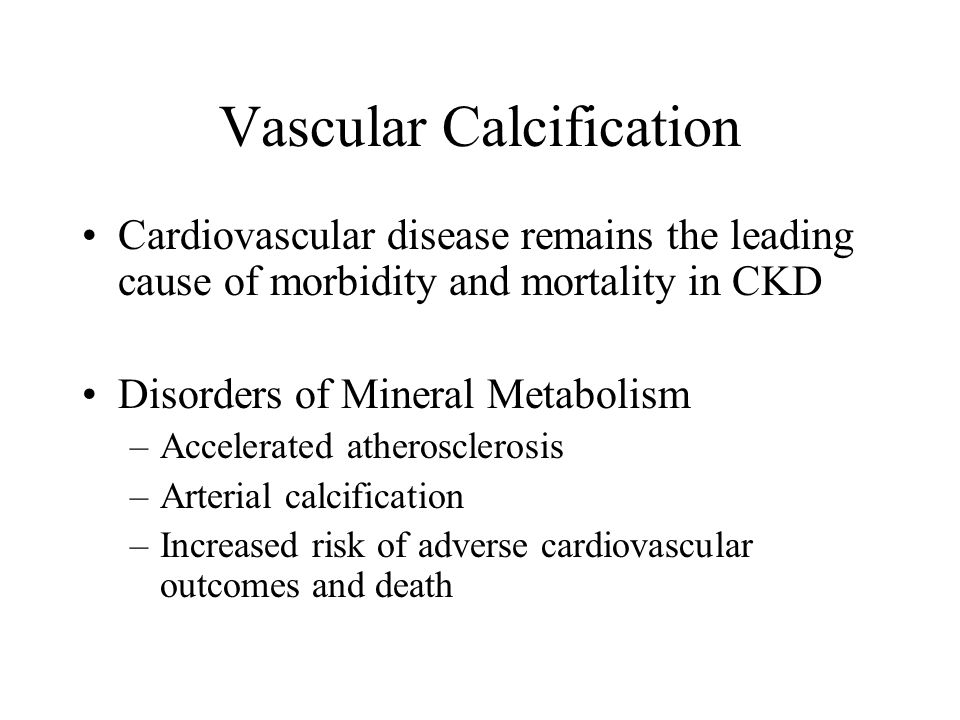 Vascular Calcification