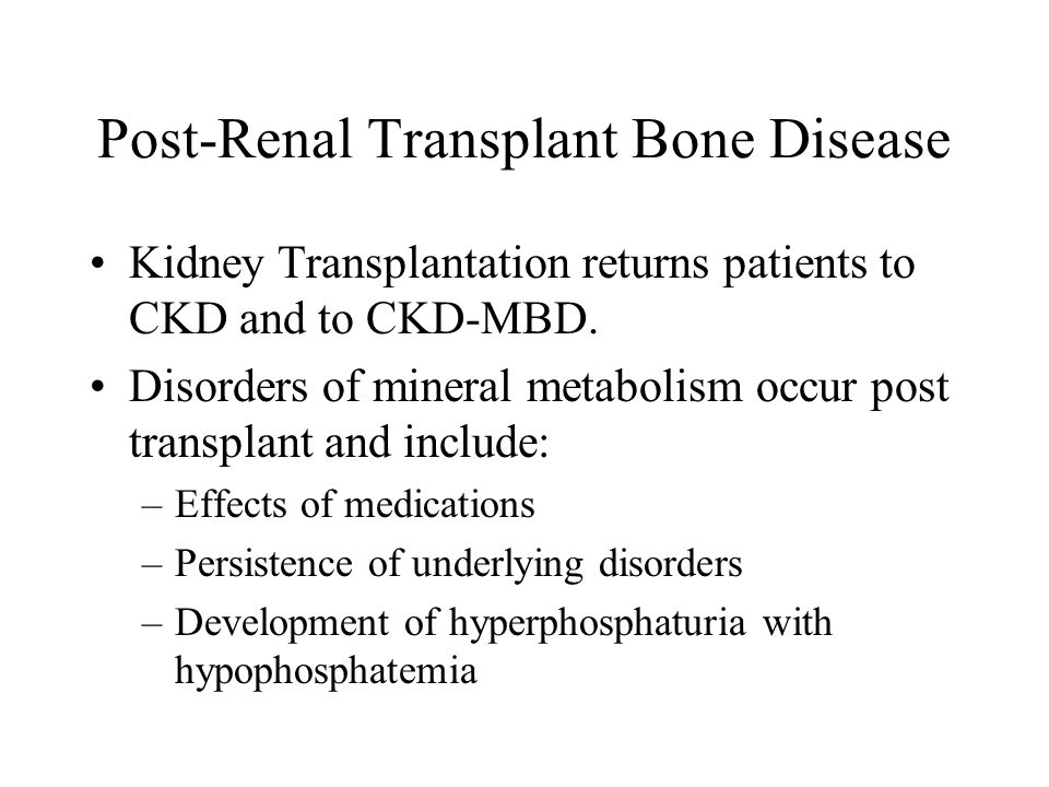Post-Renal Transplant Bone Disease