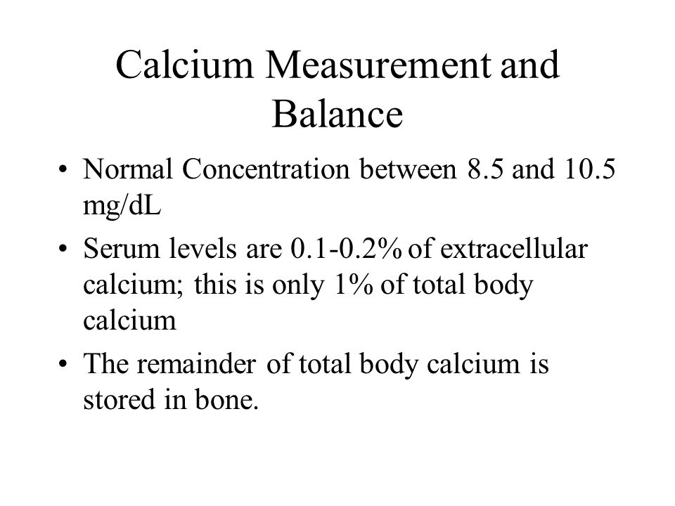 Calcium Measurement and Balance
