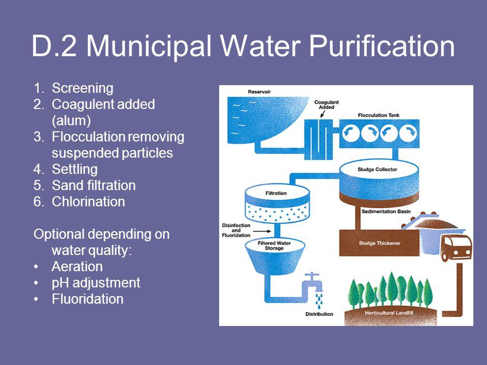 D.2 Municipal Water Purification