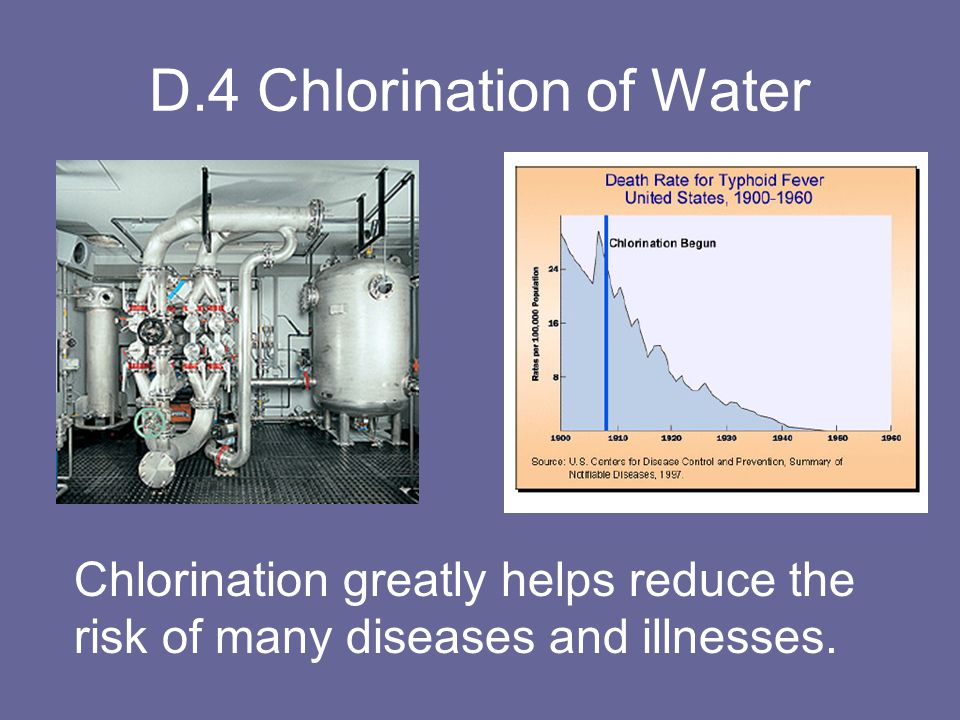D.4 Chlorination of Water