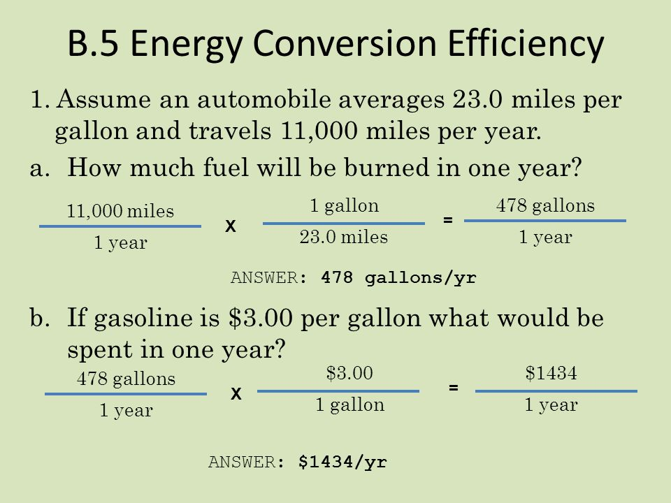 B.5 Energy Conversion Efficiency
