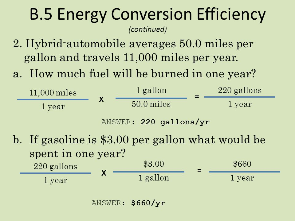 B.5 Energy Conversion Efficiency (continued)