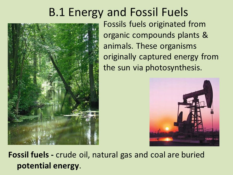 B.1 Energy and Fossil Fuels