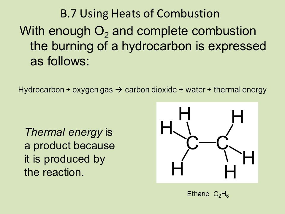 B.7 Using Heats of Combustion