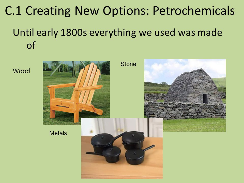 C.1 Creating New Options: Petrochemicals