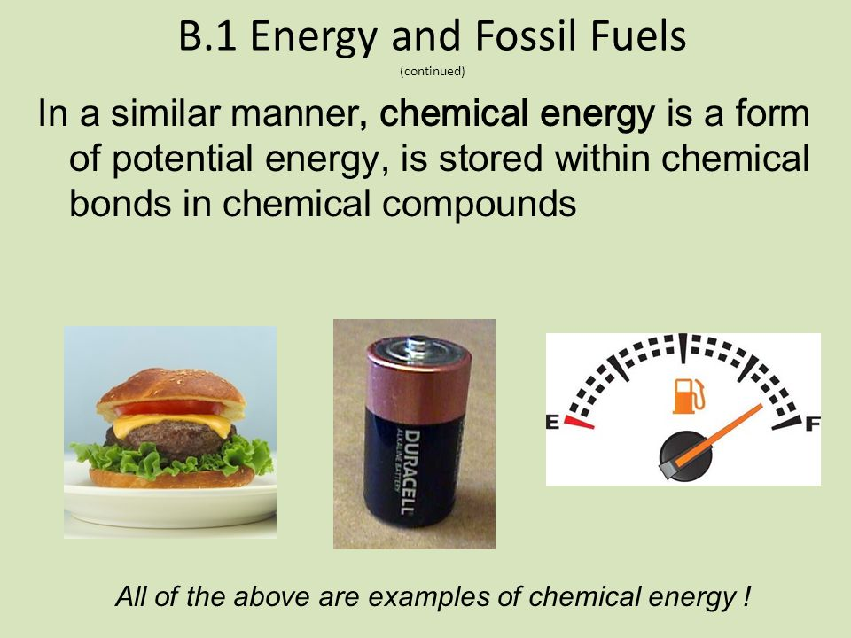 B.1 Energy and Fossil Fuels (continued)