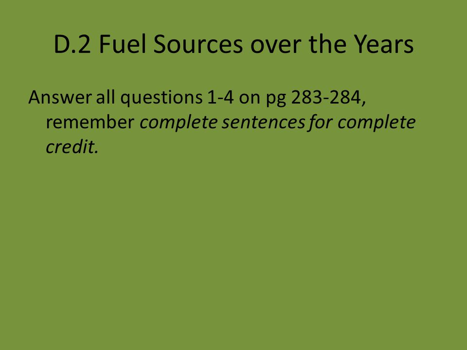 D.2 Fuel Sources over the Years