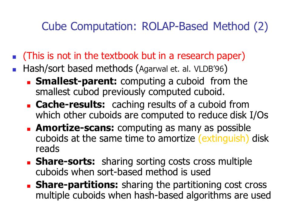 Cube Computation: ROLAP-Based Method (2)