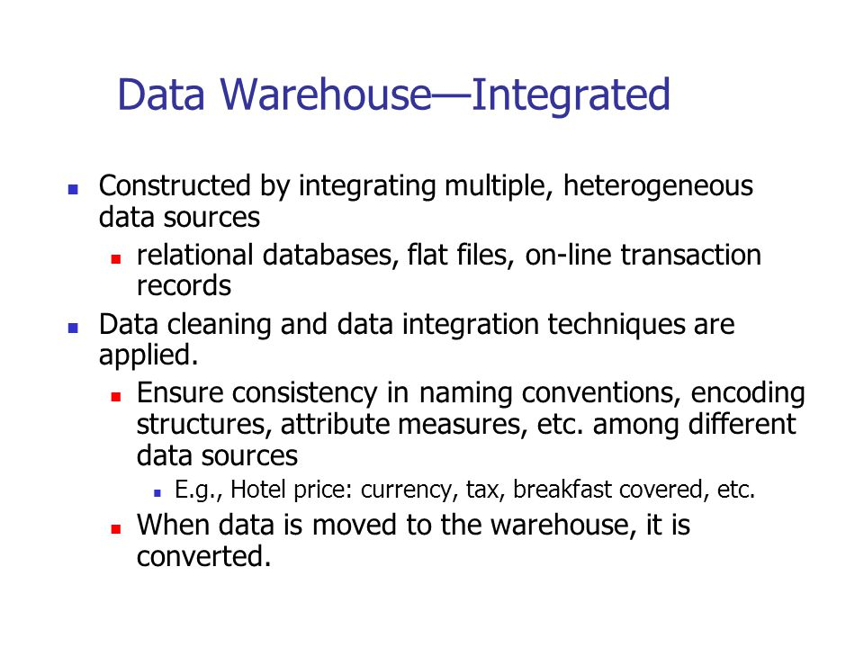 Data Warehouse—Integrated