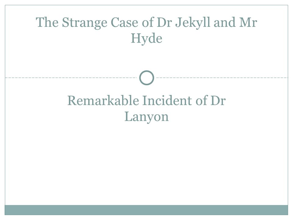 the range of narrative techniques used in jekyll and hyde essay