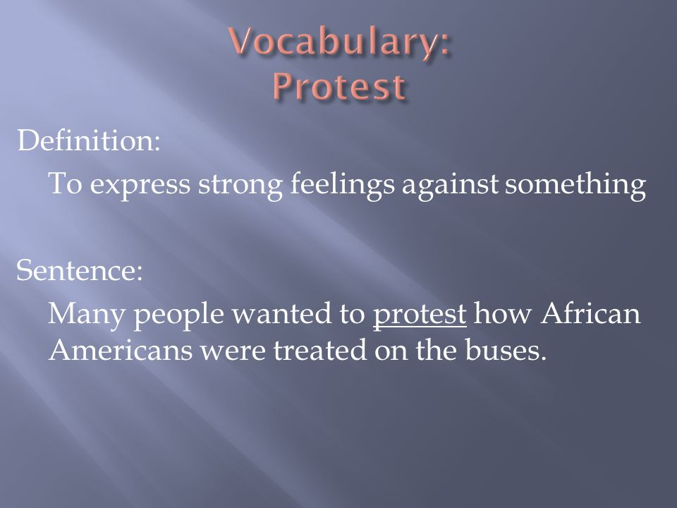 Vocabulary: Protest