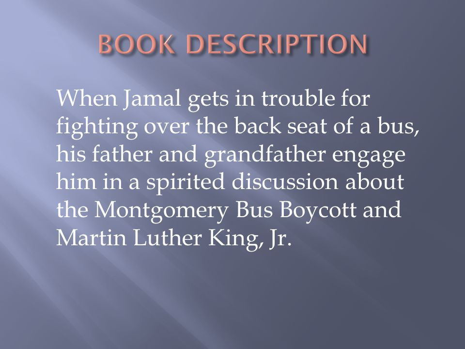 BOOK DESCRIPTION