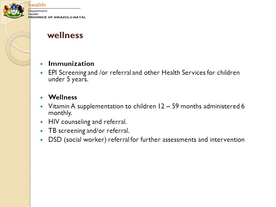 wellness Immunization