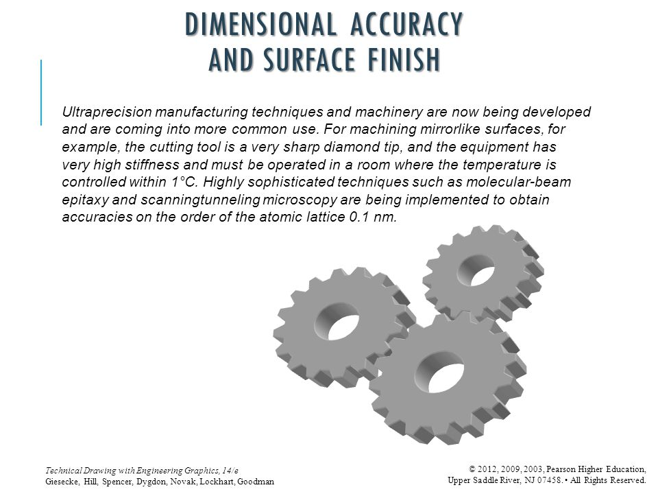 DIMENSIONAL ACCURACY AND SURFACE FINISH