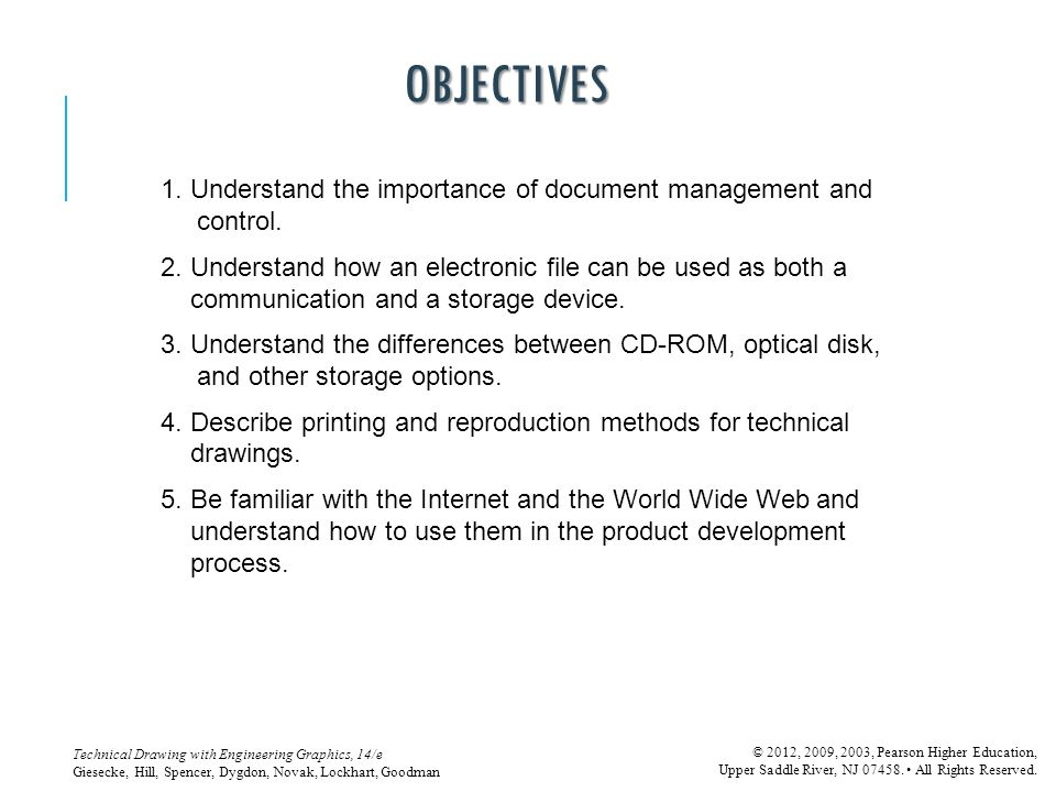 OBJECTIVES 1. Understand the importance of document management and