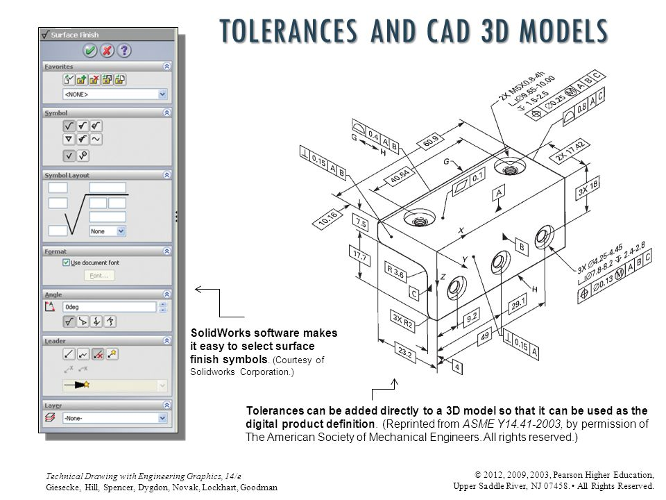 Tolerances and CAD 3D models