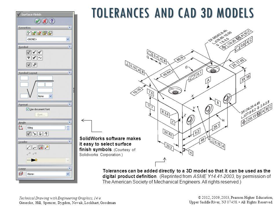 Tolerances and CAD 3D models