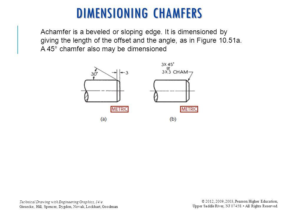 DIMENSIONING CHAMFERS