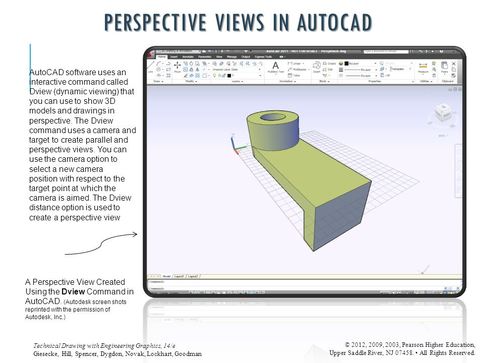 PERSPECTIVE VIEWS IN AUTOCAD