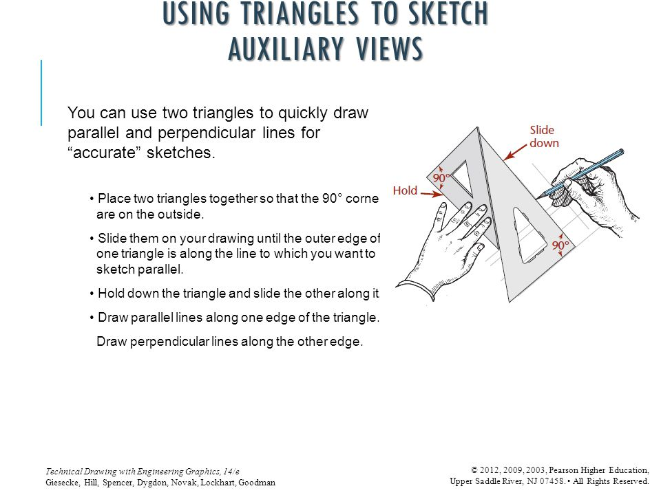 USING TRIANGLES TO SKETCH AUXILIARY VIEWS