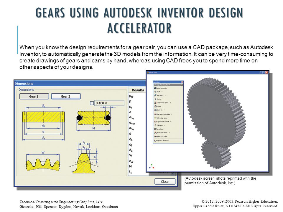 GEARS USING AUTODESK INVENTOR DESIGN ACCELERATOR