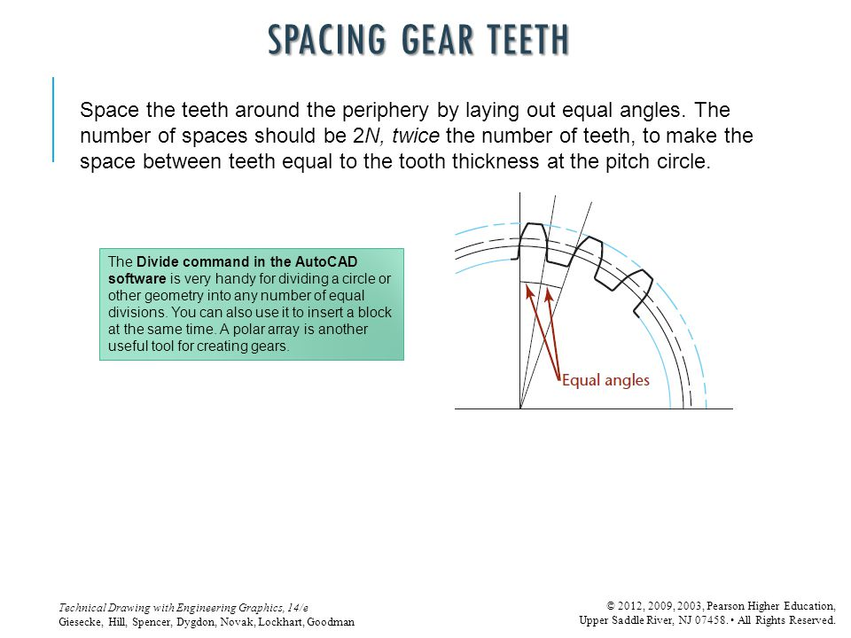 SPACING GEAR TEETH