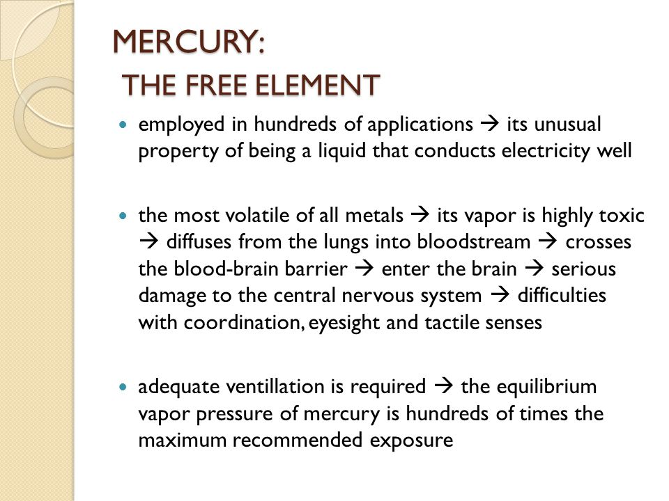 MERCURY: THE FREE ELEMENT
