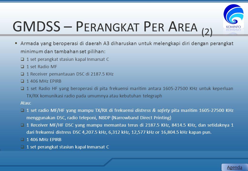 GMDSS – Perangkat Per Area (2)