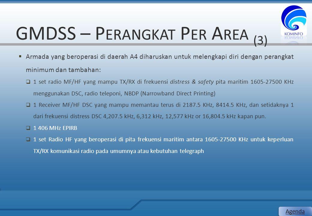 GMDSS – Perangkat Per Area (3)