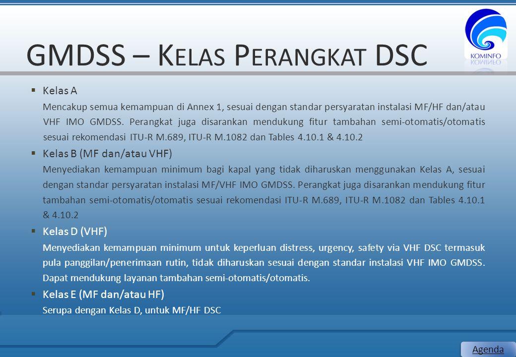GMDSS – Kelas Perangkat DSC