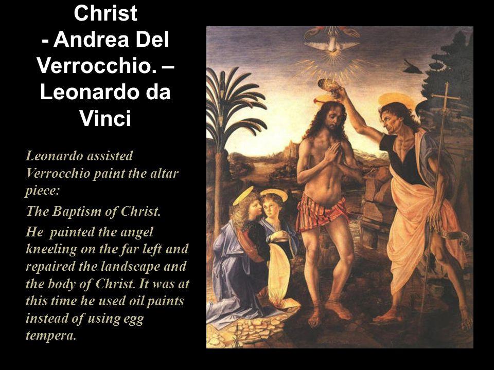 1475 The Baptism of Christ - Andrea Del Verrocchio. – Leonardo da Vinci