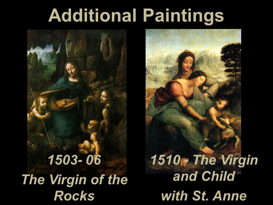 Additional Paintings 1503- 06 1510 - The Virgin and Child