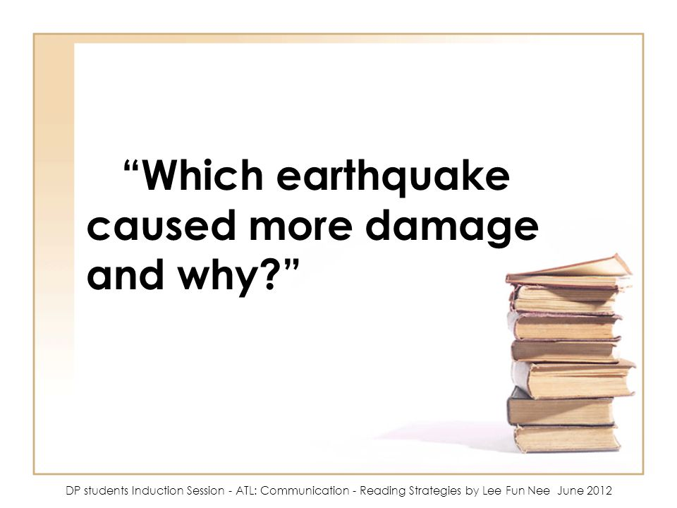 Which earthquake caused more damage and why