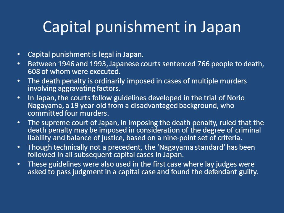 Capital punishment in Japan