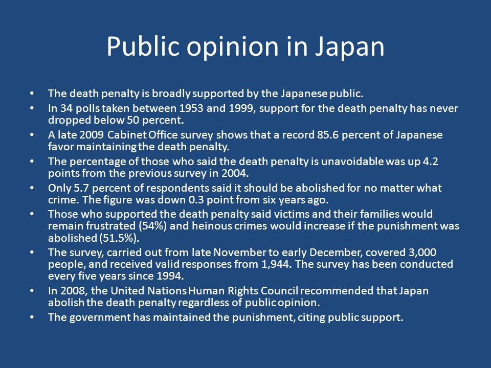 Public opinion in Japan