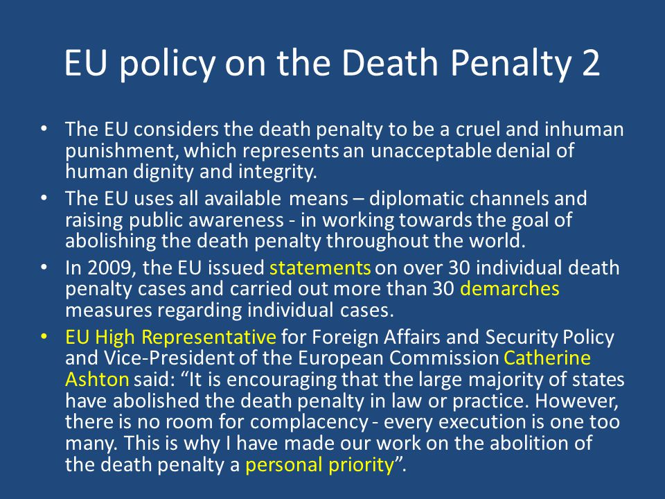 EU policy on the Death Penalty 2