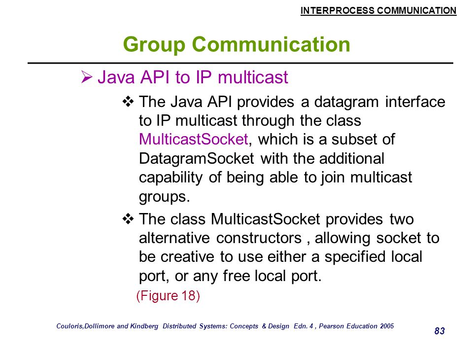 Group Communication Java API to IP multicast