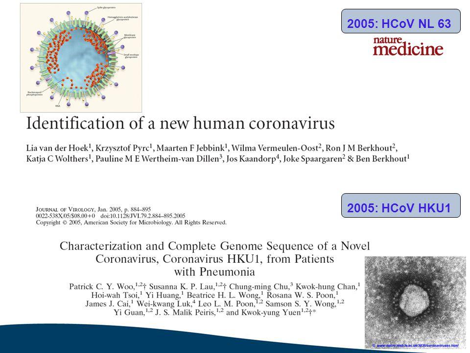 2005: Boca virus 2007: rhinovirus C