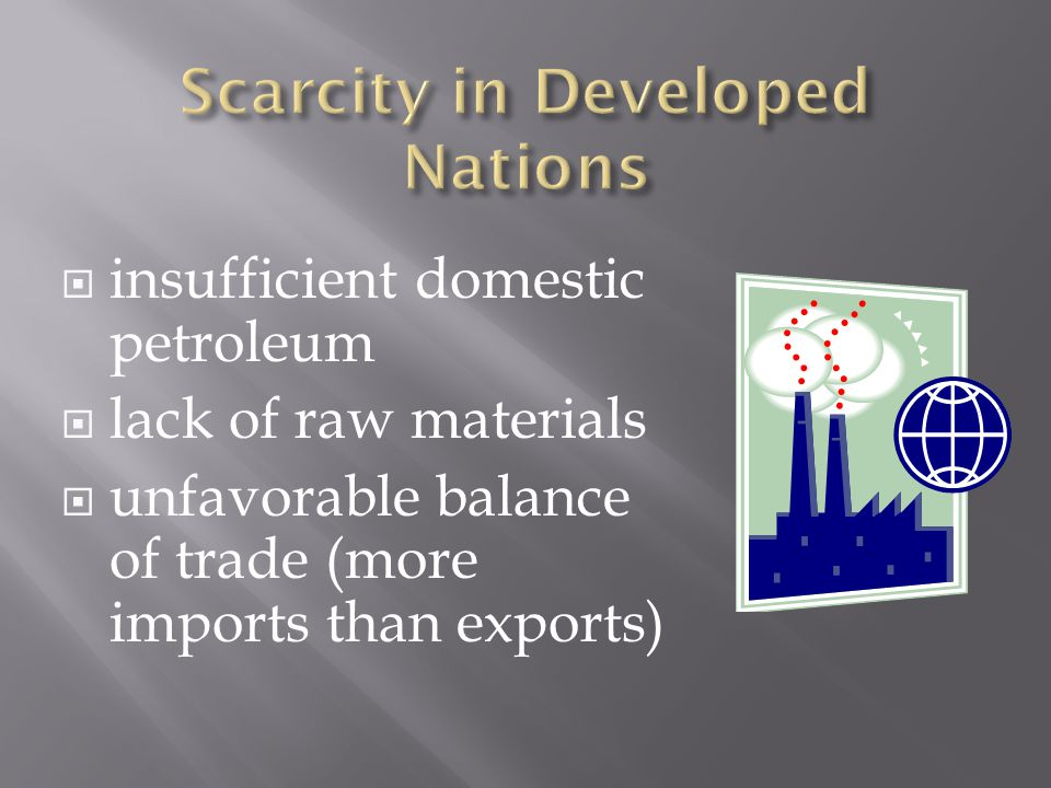 Scarcity in Developed Nations