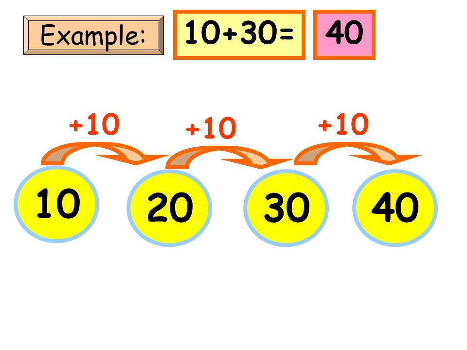 10+30= 40 Example: +10 +10 +10 10 20 30 40