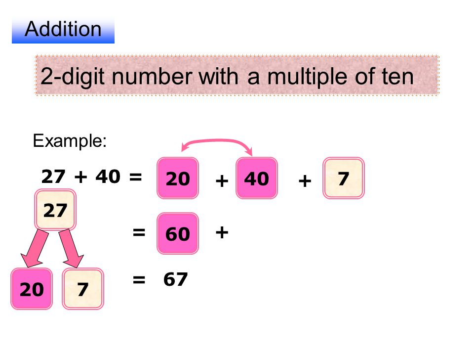 2-digit number with a multiple of ten