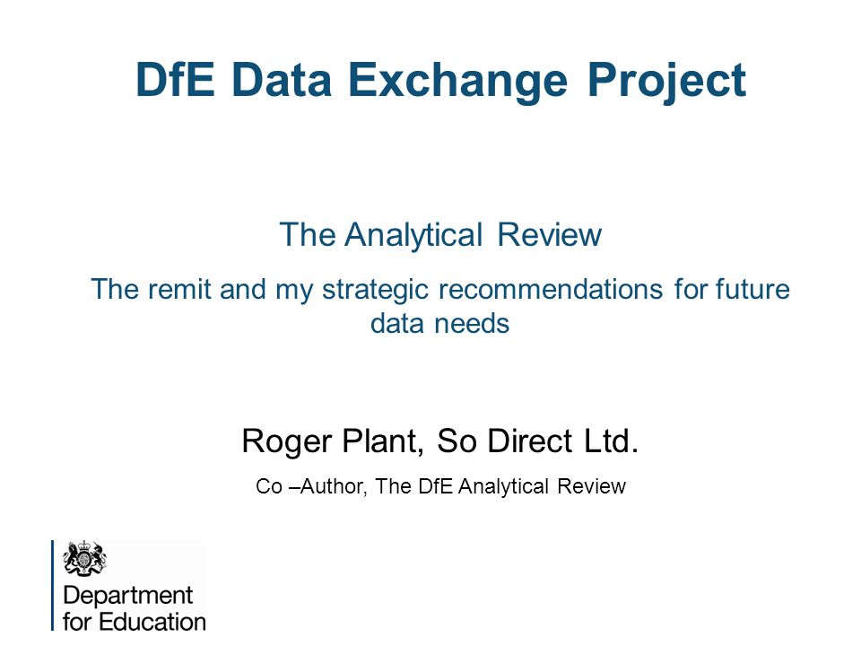 DfE Data Exchange Project