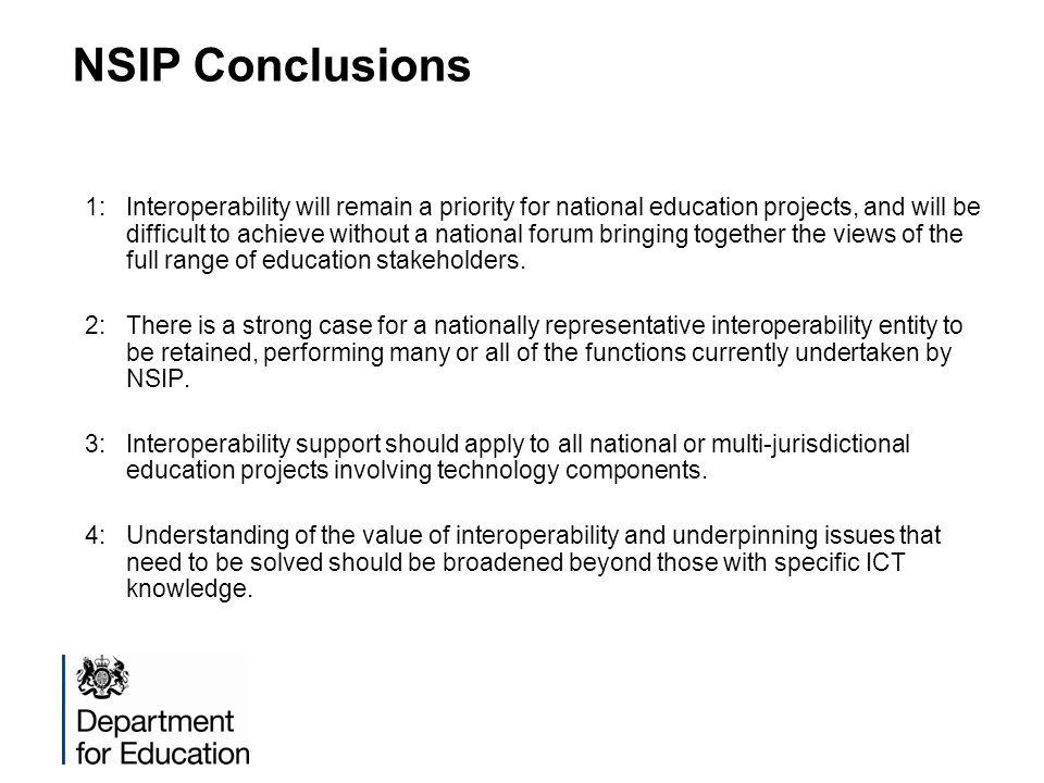 NSIP Conclusions