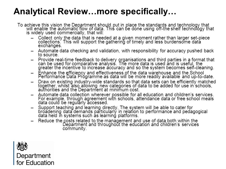 Analytical Review…more specifically…