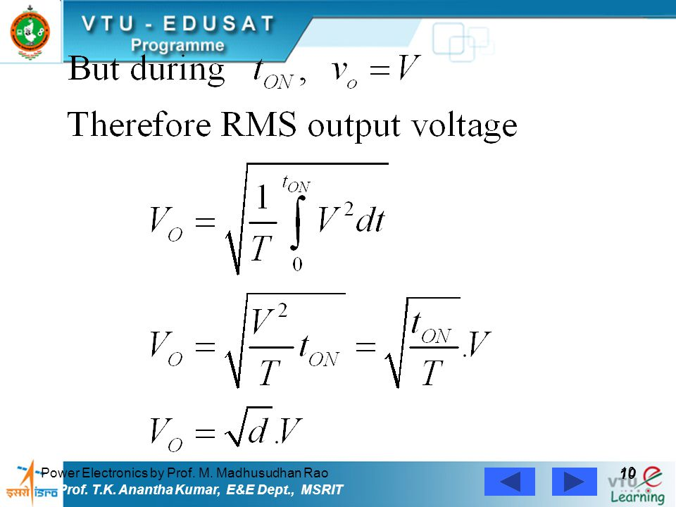 10 Power Electronics by Prof. M. Madhusudhan Rao