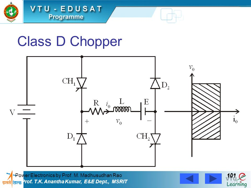 Class D Chopper 101 Power Electronics by Prof. M. Madhusudhan Rao
